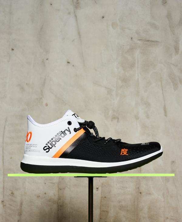 Superdry Baskets Nebulus 720 Noir/blanc/orange   Homme Baskets