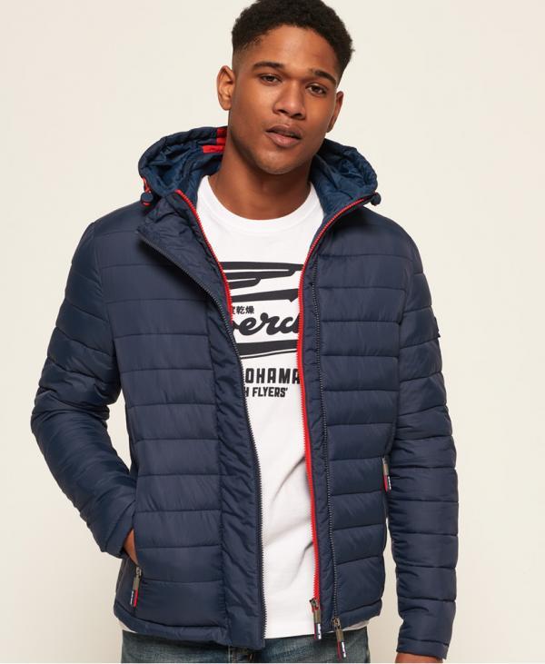 Superdry Nouvelle veste à capuche et double zip Fuji Nouveau Bleu Marine | Homme Vestes